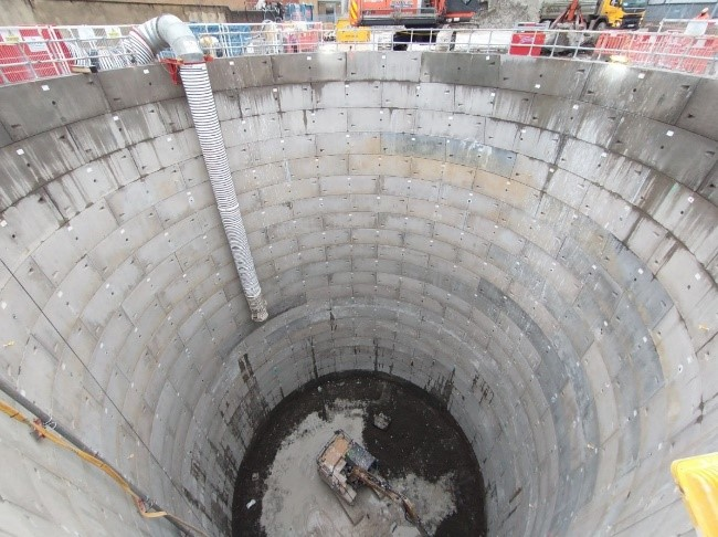 New Cross west shaft