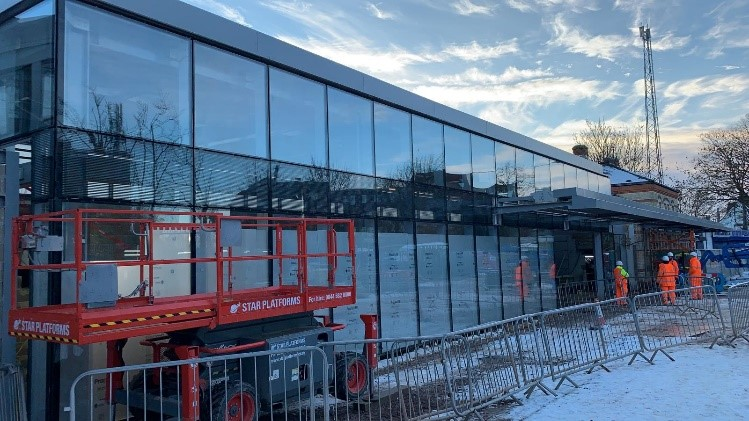 West Drayton curtain walling and glazing to station concourse